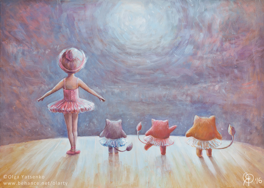 """Debut"" | ""Дебют"" Oil Canvas 50x70 cm"