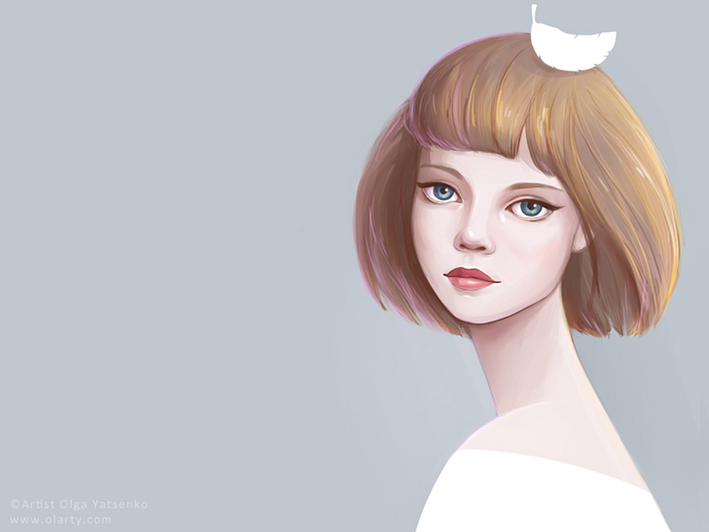 Olga_Yatsenko feather illustration