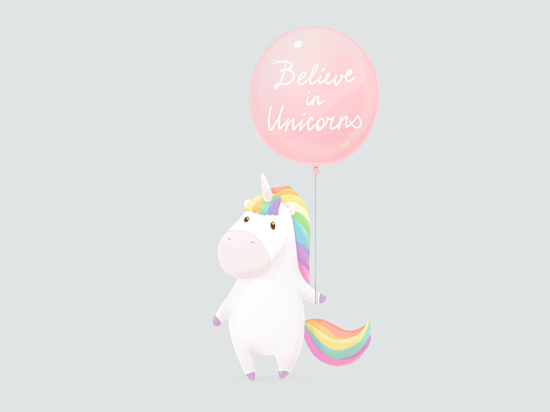 Believe in unicorns by Olga Yatsenko artist
