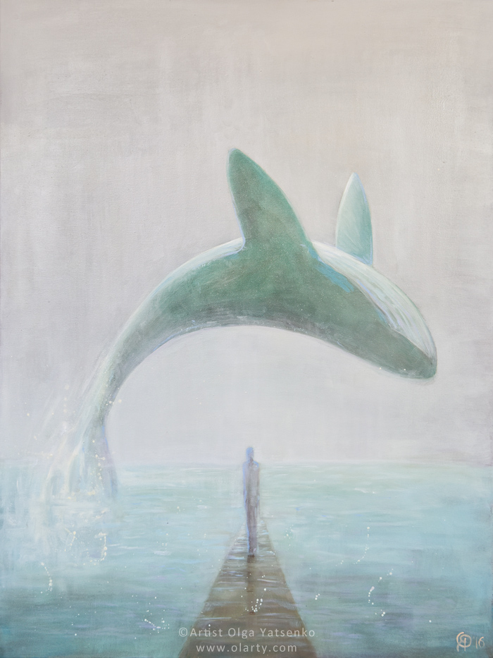 original_painting_artist_olga_yatsenko_whale_ocean_freedom