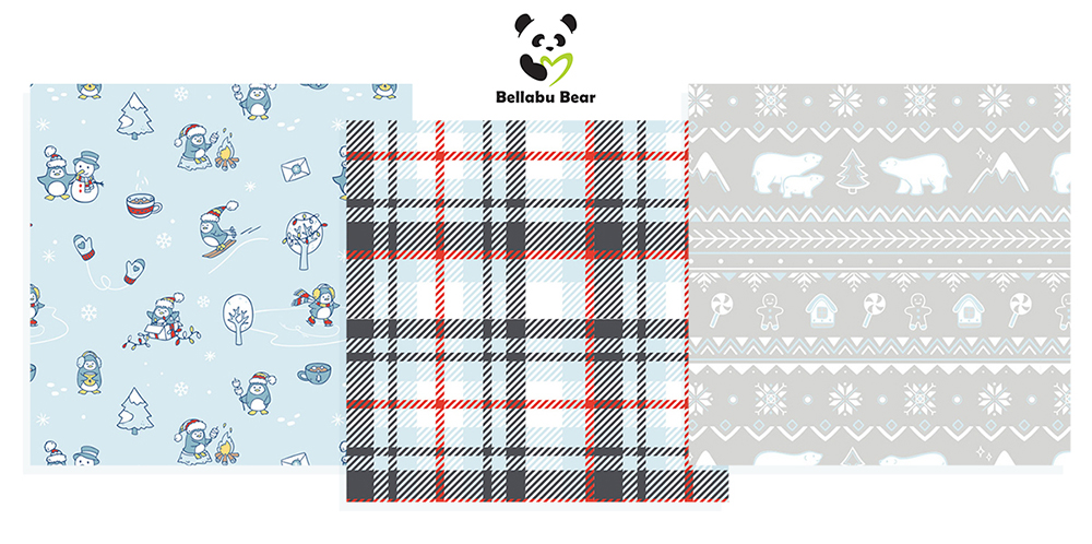 CHRISTMAS PRINT COLLECTION FOR BELLABU BEAR